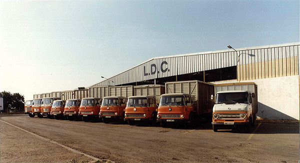 The first LDC collection lorries.